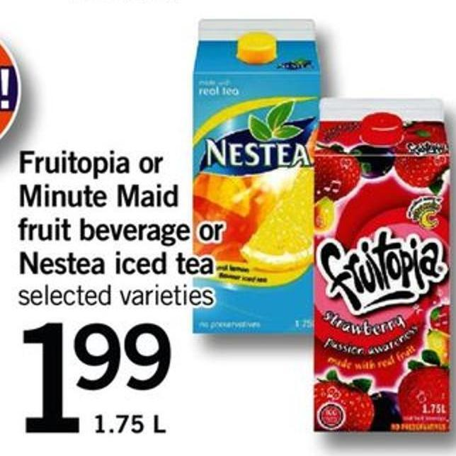 Fruitopia Or Minute Maid Fruit Beverage Or Nestea Iced Tea - 1.75 L