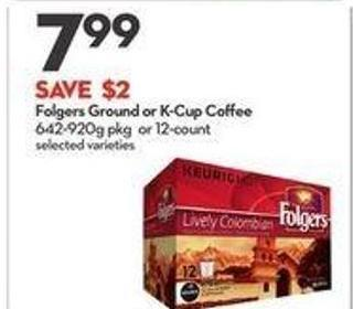 Folgers Ground or K-cup Coffee