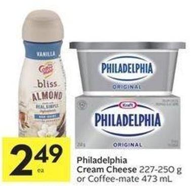 Philadelphia Cream Cheese 227-250 g or Coffee-mate 473 mL