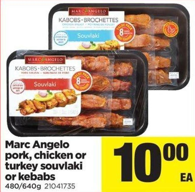 Marc Angelo Pork - Chicken Or Turkey Souvlaki Or Kebabs
