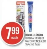 Rimmel London Brow or Perfect Match Concealer
