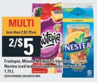 Fruitopia - Minute Maid Juice Blends Or Nestea Iced Tea Beverages - 1.75 L