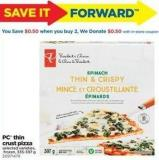 PC Thin Crust Pizza - 335-397 g