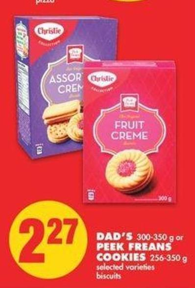 Dad's 300-350 G Or Peek Freans Cookies 256-350 G