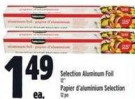 Selection Aluminum Foil 12in