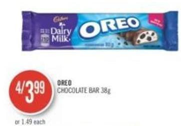 Oreo Chocolate Bar 38 g