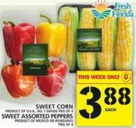 Sweet Corn Or Sweet Assorted Peppers