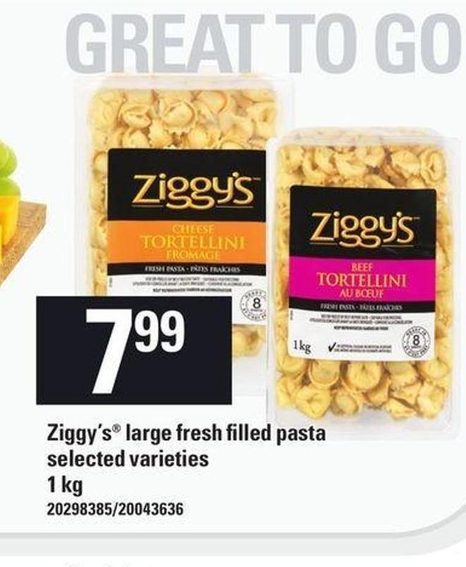 Ziggy's Large Fresh Filled Pasta