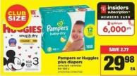 Pampers Or Huggies Plus Diapers - 84-186's