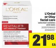 L'oréal Or Olay Facial Care