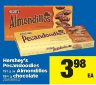 Hershey's Pecandoodles 191 G Or Almondillos 194 G Chocolate