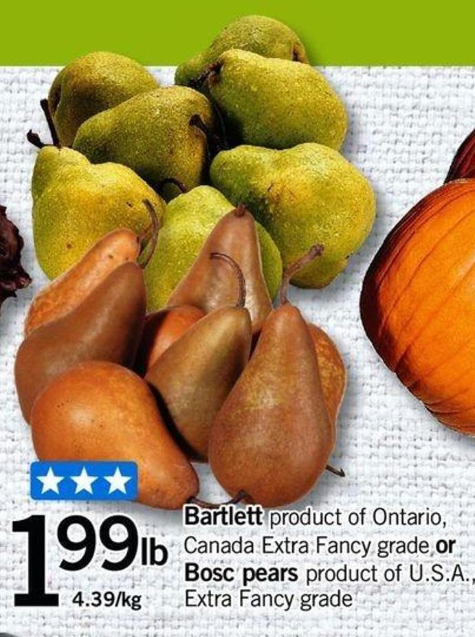 Bartlett Or Bosc Pears