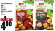 Irresistibles Naturalia Chips  150 g Or 2.29 Ea.