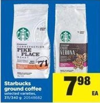 Starbucks Ground Coffee - 311/340 G