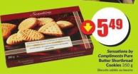 Sensations By Compliments Pure Butter Shortbread Cookies 350 g