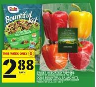 Sweet Assorted Peppers Or Dole Bountiful Salad Kits