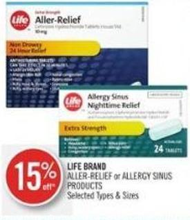 Life Brand Aller-relief or Allergy Sinus