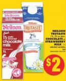 Neilson Trutaste 1% - 2% or Skim - Chocolate or Strawberry Milk 1 L