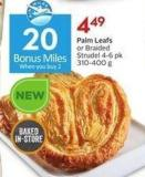 Palm Leafs or Braided Strudel 4-6 Pk 310-400 g - 20 Air Miles Bonus Miles