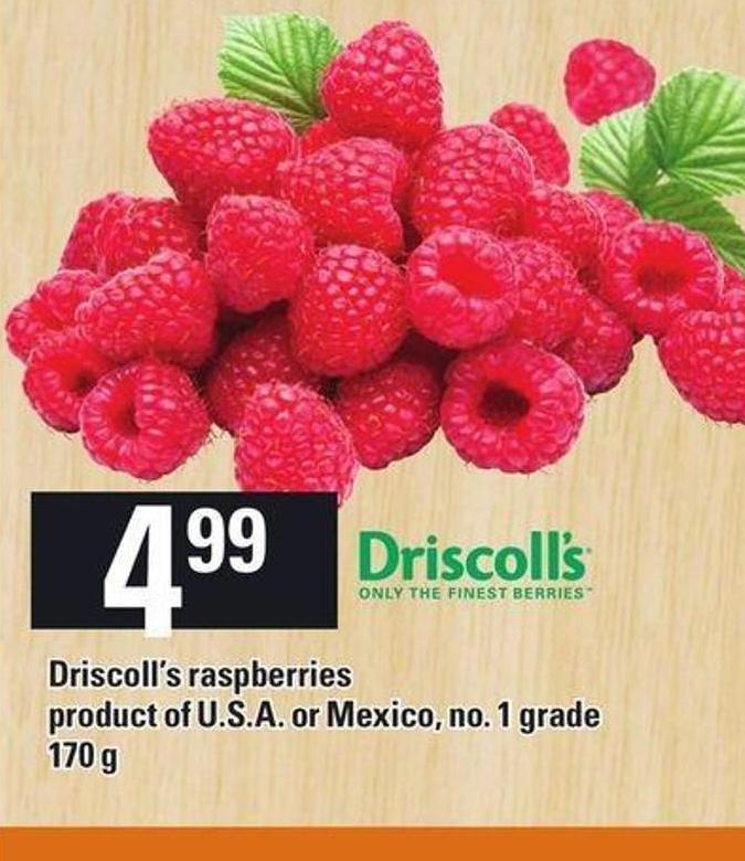 Driscoll's Raspberries Product Of U.S.A. Or Mexico 170 G