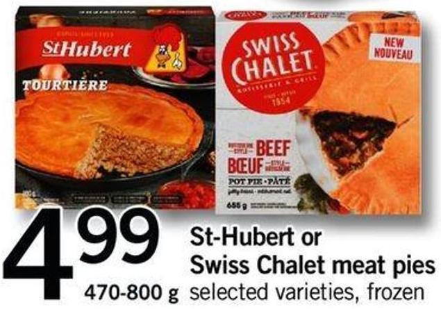St-hubert Or Swiss Chalet Meat Pies - 470-800 G