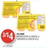 No Name Breadsticks & Cheese or Crackers & Cheese 87g