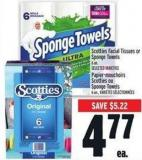 Scotties Facial Tissues Or Sponge Towels 6 Un.