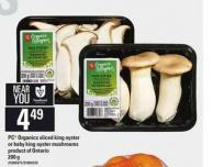 PC Organics Sliced King Oyster Or Baby King Oyster Mushrooms.200 G