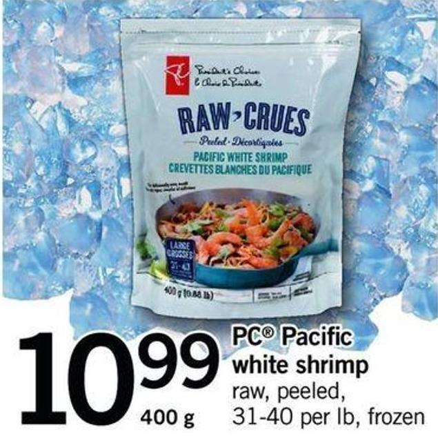 PC Pacific White Shrimp - 31-40 Per Lb - 400 g
