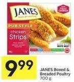 Janes Boxed & Breaded Poultry 700 g