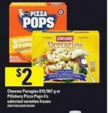 Cheemo Perogies - 815/907 G Or Pillsbury Pizza Pops - 4's