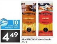Armstrong Cheese Snacks - 10 Air Miles Bonus Miles