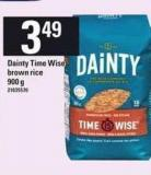 Dainty Time Wise Brown Rice - 900 g