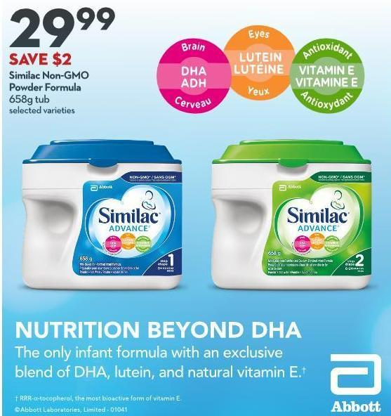 Similac Non-gmo  Powder Formula 658g Tub
