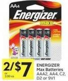 Energizer Max Batteries Aaa2 - Aa4 - C2 - D2 or 9v1