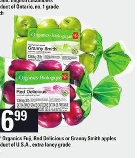 PC Organics Fuji - Red Delicious Or Granny Smith Apples - 3 Lb