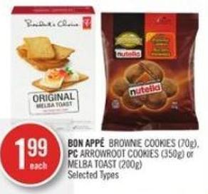 Bon Appé  Brownie Cookies (70g) - PC Arrowroot Cookies (350g) or Melba Toast (200g)