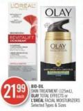 Bio-oil  Skin Treatment (125ml) - Olay Total Effects or L'oréal Facial Moisturizers
