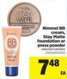 Rimmel Bb Cream - Stay Matte Foundation Or Press Powder