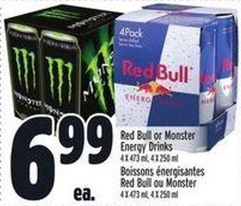 Red Bull Or Monster Energy Drinks