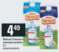 Neilson Trutaste Microfiltered Milk - 2 L