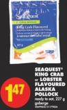 Seaquest King Crab or Lobster Flavoured Alaska Pollock - 227 g