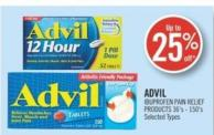Advil Ibuprofen Pain Relief Products 36's - 150's