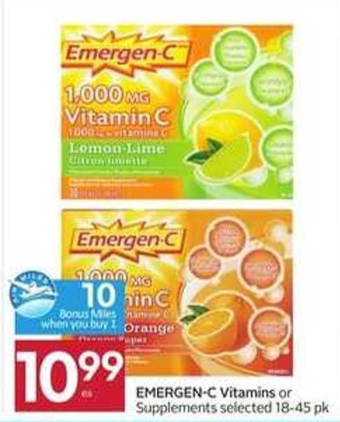 Emergen-c Vitamins - 10 Air Miles Bonus Miles