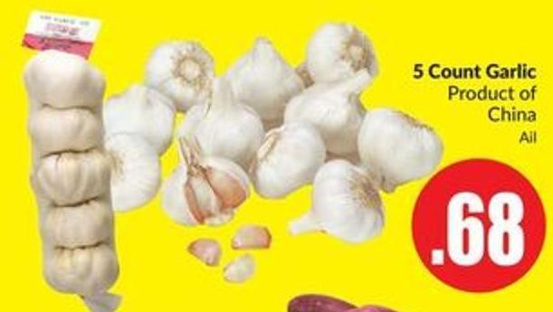 5 Count Garlic Product of China