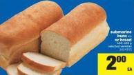 Submarine Buns 4's Or Bread - 400-450 g