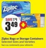 Ziploc Bags or Storage Containers