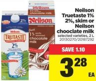 Neilson Truetaste 1% 2% - Skim Or Neilson Chooclate Milk - 2 L