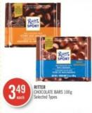 Ritter Chocolate Bars 100g