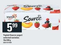 Yoplait Source Yogurt.16x100 G